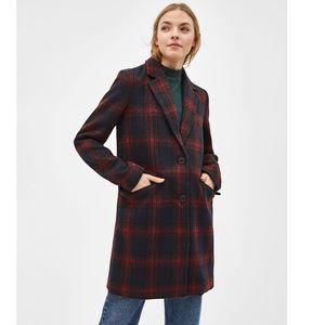 NEW Bershka Plaid Coat